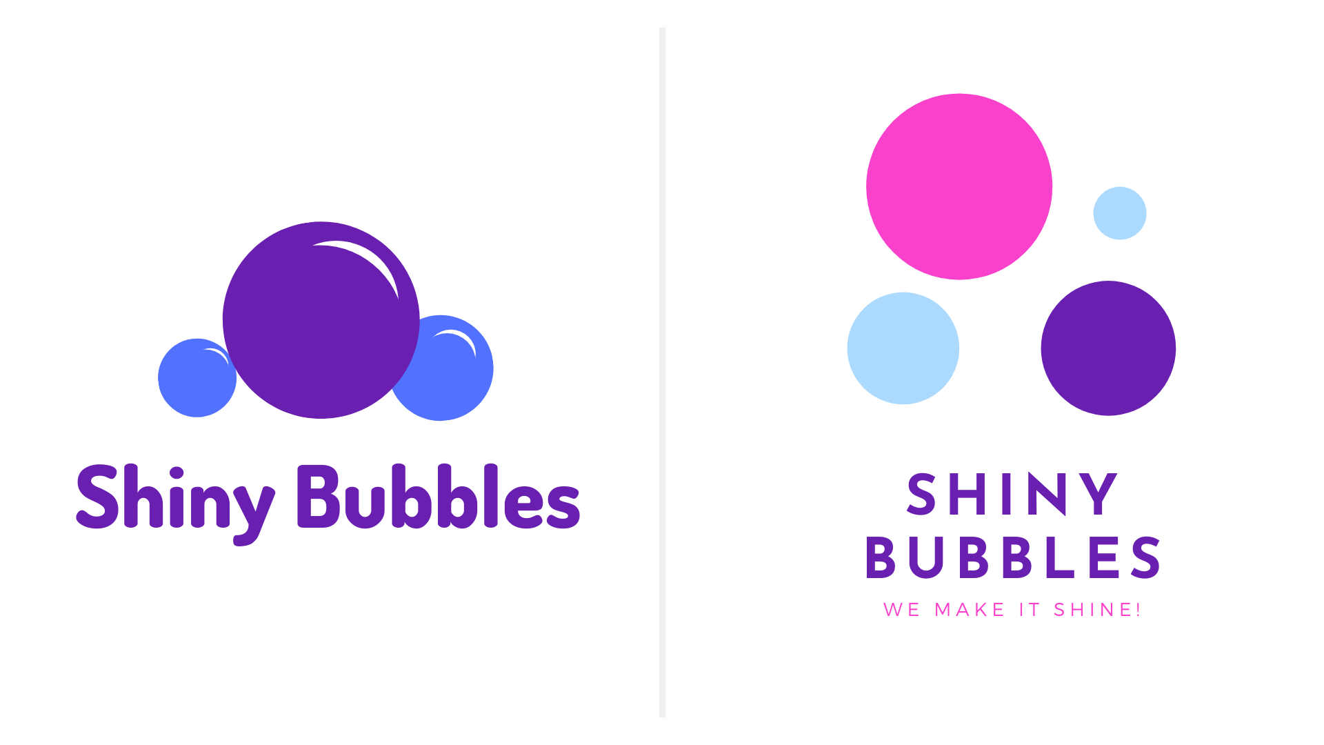 cleaning services logo examplea shiny bubbles