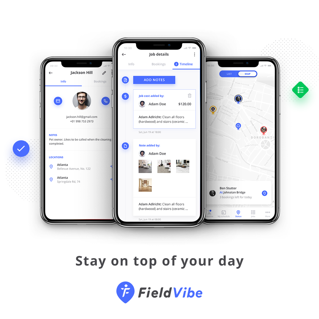FieldVibe app for scheduling and managing field services