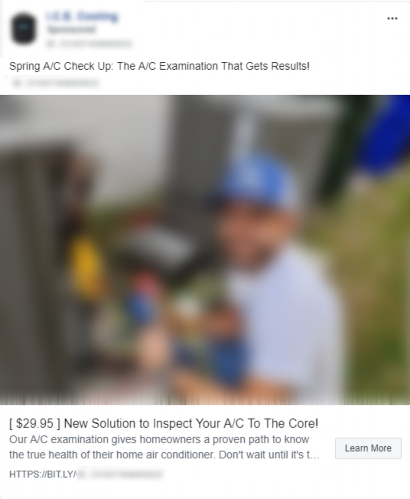 HVAC leads generation Facebook Ad